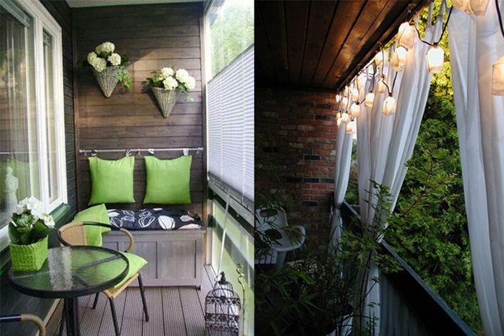 Дизайн балкона - идеи интерьеров маленьких балконов балконы .